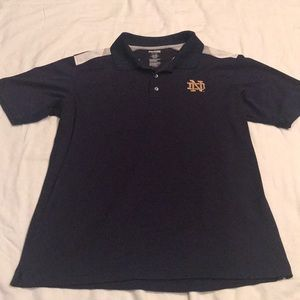 Notre Dame collared short sleeve